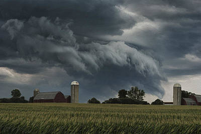 Barn Digital Art - Wisconsin Farm by Jack Zulli
