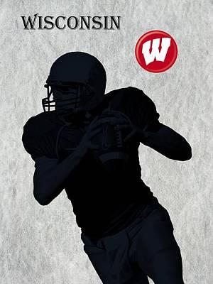 Wisconsin Football Art Print by David Dehner