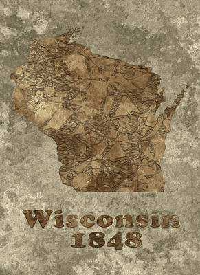 Computer Art Painting - Wisconsin by Jack Zulli