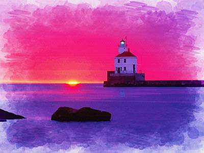 Wisconsin Point Lighthouse Original by Don Kuing