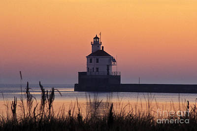 Abstract Male Faces - Wisconsin Point Lighthouse - FS000216 by Daniel Dempster