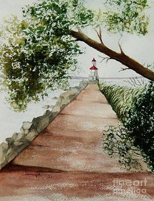 Painting - Wisconsin Point Lighthouse by Penny Stroening