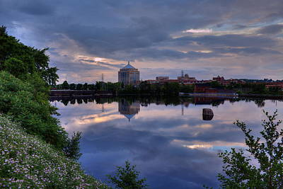 Photograph - Wisconsin River Reflection by Dale Kauzlaric