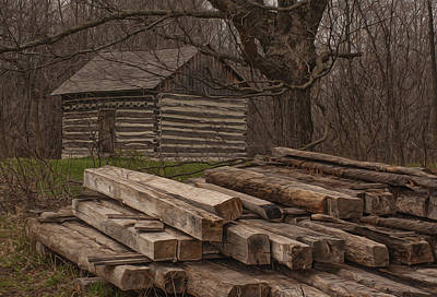 Settlement Digital Art - Wisconsin Rustic by Jack Zulli