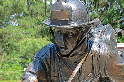 Art Print featuring the photograph Wisconsin State Firefighters Memorial 3  by Susan  McMenamin