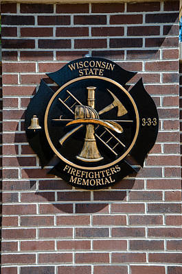 Art Print featuring the photograph Wisconsin State Firefighters Memorial Park 5 by Susan  McMenamin