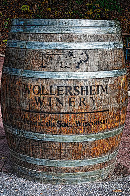 Wisconsin Wine Barrel Art Print
