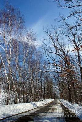 Photograph - Wisconsin Winter Road by PJ Boylan