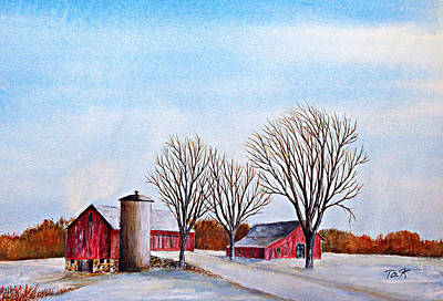 Painting - Wisconsin Winter by Thomas Kuchenbecker