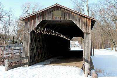 Nikki Vig Royalty-Free and Rights-Managed Images - Wisconsins Last Covered Bridge by Nikki Vig