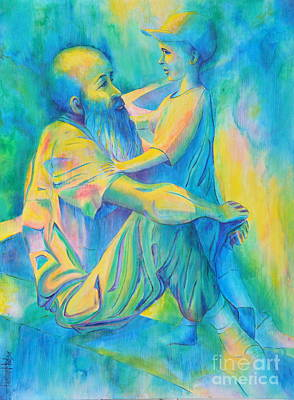 Painting - Wisdom And Innocence by Jaswant Khalsa