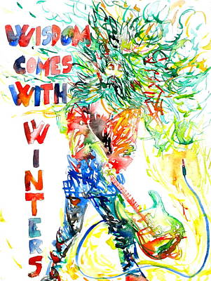 Wisdom Comes With Winters Art Print by Fabrizio Cassetta