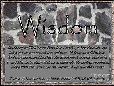 Photograph - Wisdom In Stone Inspirational by Bobbee Rickard