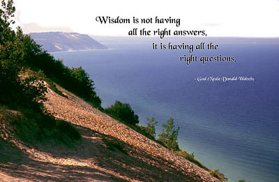 Wisdom Is Art Print by Mike Flynn