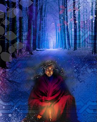 Contemplation Mixed Media - Wisdom by Lucinda Rae