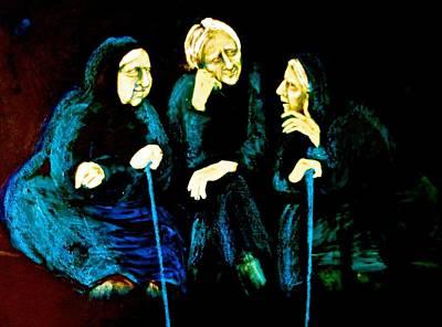 Wall Art - Painting - Wisdom Of The Elders by Jakki Moore