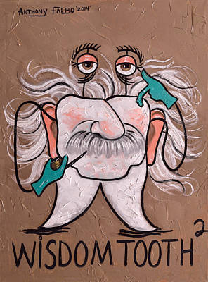 Painting - Wisdom Tooth 2 by Anthony Falbo