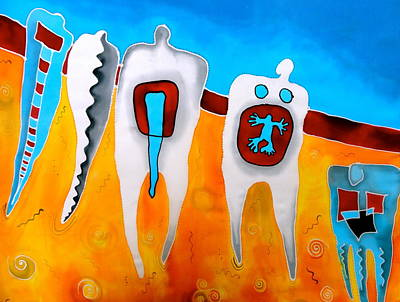 Wall Art - Painting - Wisdom Tooth by Jakki Moore