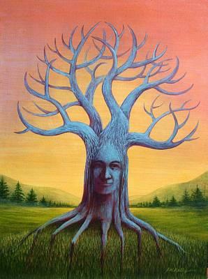 Painting - Wisdom Tree by J W Kelly