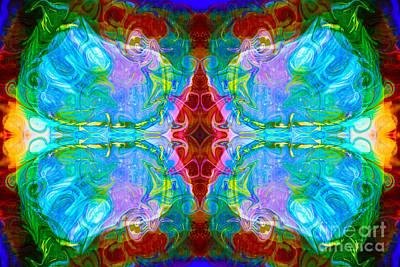 Digital Art - Wisdome And Mystery Abstract Pattern Artwork By Omaste Witkowski by Omaste Witkowski