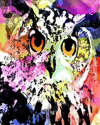 Wise And Colorful Owl Art Print