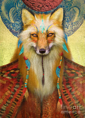 Wise Fox Art Print