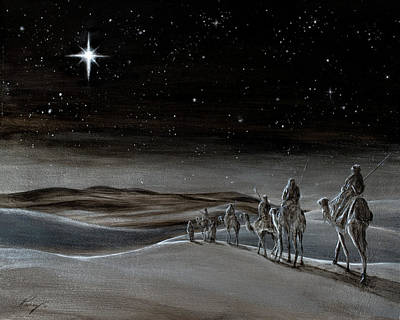 Wise Men From The East Art Print by Douglas Ramsey