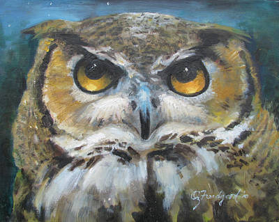 Wise Old Owl Eyes  Art Print