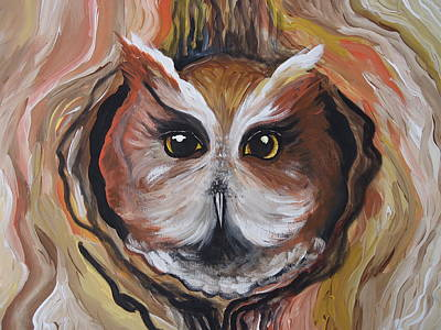 Painting - Wise Ole Owl by Leslie Manley