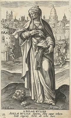 Wise Woman Of Abel Beth Maacah, Jan Collaert II Art Print