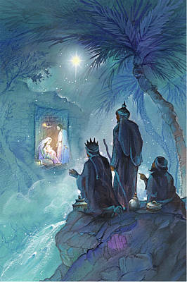 Nativity Painting - Wisemen by P.s
