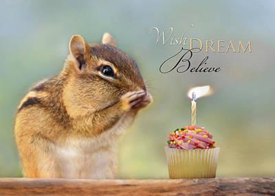 Squirrel Digital Art - Wish Dream Believe by Lori Deiter