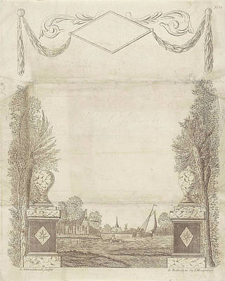 Wish Letter With Decorative Framework With A Townscape Art Print by Leonardus Schweickhardt And Jan Hendriksen