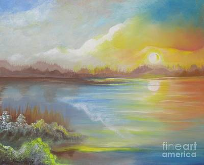 Art Print featuring the painting Wish You Were Here. by Nereida Rodriguez