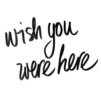 etsy bild - Wish You Were Here Text