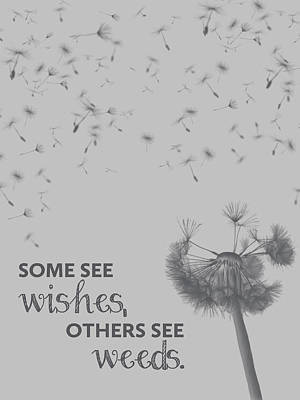 Wishes And Weeds Art Print