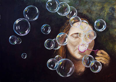 Painting - Wishing Bubbles by Elisabeth Dubois