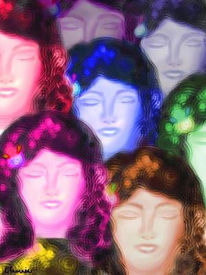 Faces In The Crowd Wall Art - Digital Art - Wishing by Christine Fournier