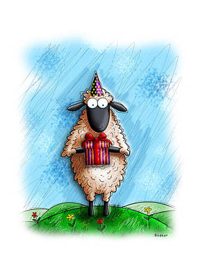 Cards Digital Art - Wishing Ewe  by Gary Bodnar