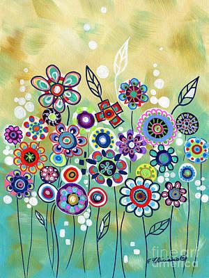Painting - Wishing Garden by Elena Feliciano