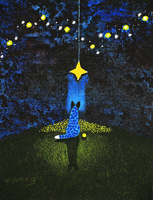 Blue Healer Painting - Wishing On A Star by Todd Young