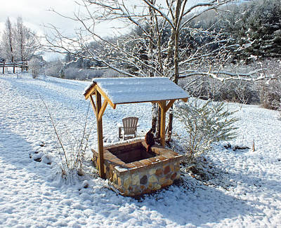 Photograph - Wishing Well In The Snow With Kitty Cat 2 by Duane McCullough