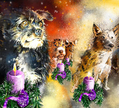 Painting - Wishing You A Blessed Advent by Miki De Goodaboom