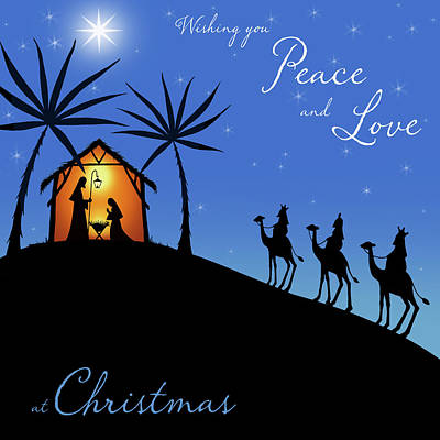 Wishing You Peace - Wisemen Print by P.s. Art Studios