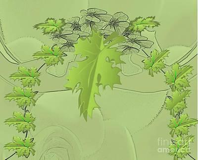 Painting - Wisp Of Green by Belinda Threeths
