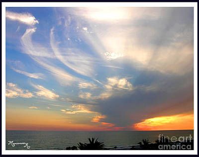 Photograph - Wispy Clouds At Sunset by Mariarosa Rockefeller