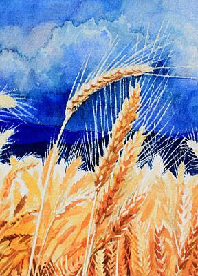 Artist Direct Order Painting - Wispy Wheatfield 1 by Hanne Lore Koehler