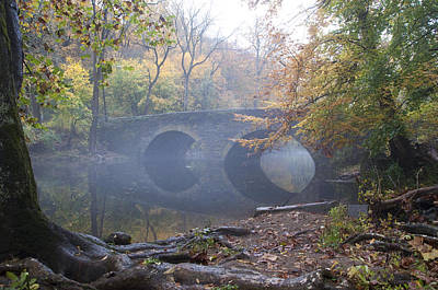 Wissahickon Creek And Bells Mill Road Bridge Art Print by Bill Cannon