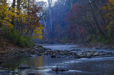 Phillies Digital Art - Wissahickon Creek In The Fall by Bill Cannon