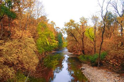 Phillies Digital Art - Wissahickon Creek Near Chestnut Hill College In Autumn by Bill Cannon